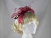 Failsworth Millinery Sinamay Fascinator in Fuchsia