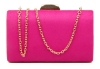 Papaya Fashion Clutch Box Bag in Fuchsia