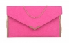 Papaya Fashion Envelope Faux Leather Bag in Fuchsia