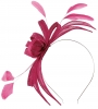Failsworth Millinery Aliceband Sinamay Fascinator in Fuschia