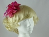 Flower and Biots Fascinator in Fuschia