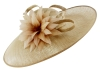 Failsworth Millinery Events Saucer Headpiece in Gold-Silver