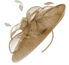 Failsworth Millinery Sinamay Leaves Disc in Gold-Silver