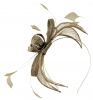 Failsworth Millinery Sinamay Fascinator in Gold-Silver