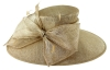 Failsworth Millinery Wide Brimmed Events Hat in Gold-Silver
