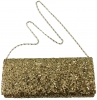 Elegance Collection Evening Bag in Gold Sequins