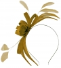 Failsworth Millinery Aliceband Sinamay Fascinator in Gold