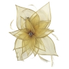 Failsworth Millinery Diamante Organza Fascinator in Gold