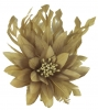 Failsworth Millinery Feather Flower Fascinator in Gold