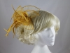Fascinator with Curled Fabric and Biots in Gold