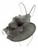 Failsworth Millinery Quills Disc Headpiece in Granite