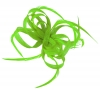 Aurora Collection Loops in Hessian Fascinator in Green