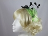 Aurora Collection Bright Leaves Fascinator in Green
