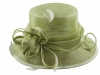 Elegance Collection Sinamay Loops Wedding Hat in Green