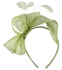 Elegance Collection Sinamay Loops and Feathers Fascinator in Green