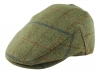 Failsworth Millinery Waterproof Tweed Porelle Cap in Green