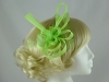 Aurora Collection Fascinator with Loops and Feathers in Green