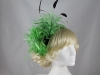 Green Feather Headpiece