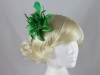 Flower with Biots Fascinator in Green