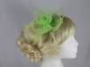 Swirl & Biots Fascinator on comb in Green