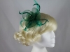 Aurora Collection Swirl and Biots with Diamantes Fascinator in Green