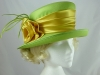 Green and Gold Wedding Hat