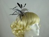Sinamay Flower Fascinator on Aliceband in Grey and Silver