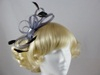 Fascinator with Loops and Gem in Silver