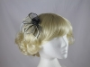 Two Tone Rose Fascinator in Grey & Cream