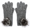Alice Hannah Alina Diagonal Ribbed Gloves in Grey