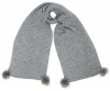 Alice Hannah Alina Diagonal Ribbed Scarf in Grey