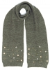 Alice Hannah Allie Sparkly Stars Scarf in Grey