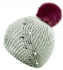 Alice Hannah Hermione Sparkly Ribbed Beanie in Grey