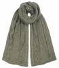 Alice Hannah Alexa Ribbed Knitted Scarf in Grey