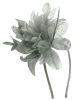 Aurora Collection Flower Aliceband Fascinator in Grey