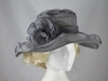 Collapsible Wedding Hat in Grey