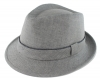 Failsworth Millinery Irish Linen Trilby in Grey