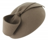 Failsworth Millinery Wool Felt Pillbox in Grey