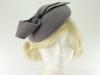Failsworth Millinery Wool Felt Pillbox in Grey