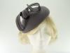 Failsworth Millinery Wool Felt Pillbox Headpiece in Grey