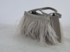 Grey Feather Occasion Bag