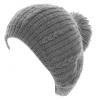 Hawkins Chunky Knit Pom Pom Beanie in Grey