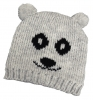 Hawkins Panda Beanie Ski Hat in Grey