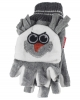 Jiglz Fleece Shooter Mits in Grey