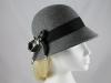 Victoria Ann Bow Winter Hat in Grey