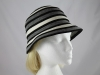 Victoria Ann Striped Winter Hat in Grey