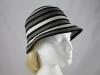 Victoria Ann Striped Winter Hat in Grey