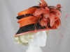 Gwyther-Snoxells Orange and Black Events Hat