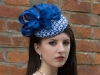 HATS by Emelle Bridget Blue Button with Silk Abaca Bows