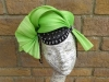 HATS by Emelle Luscious Lime Black and Silver Sinamay Pillbox